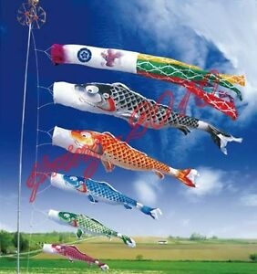 New large koinobori japanese carp wind sock koi nobori for Koi fish kite