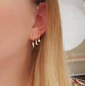 Ohrringe-Mini-Hoop-034-Stella-034-925-Sterling-Silber-Gold