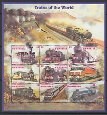 RAILWAYS:DOMINICA Trains of the World  sheetlets  SG2090-2107 MNH