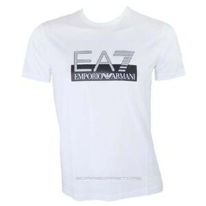 Emporio-Armani-EA7-T-shirt-uomo-manica-corta-mod-6gpt81-colore-bianco