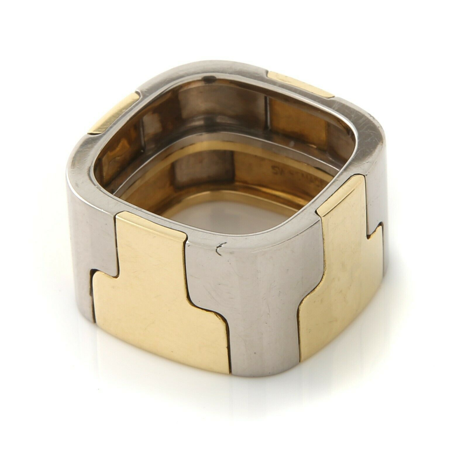 Gubelin, Contemporary, Wide 18k,Two-Tone Band - image 5