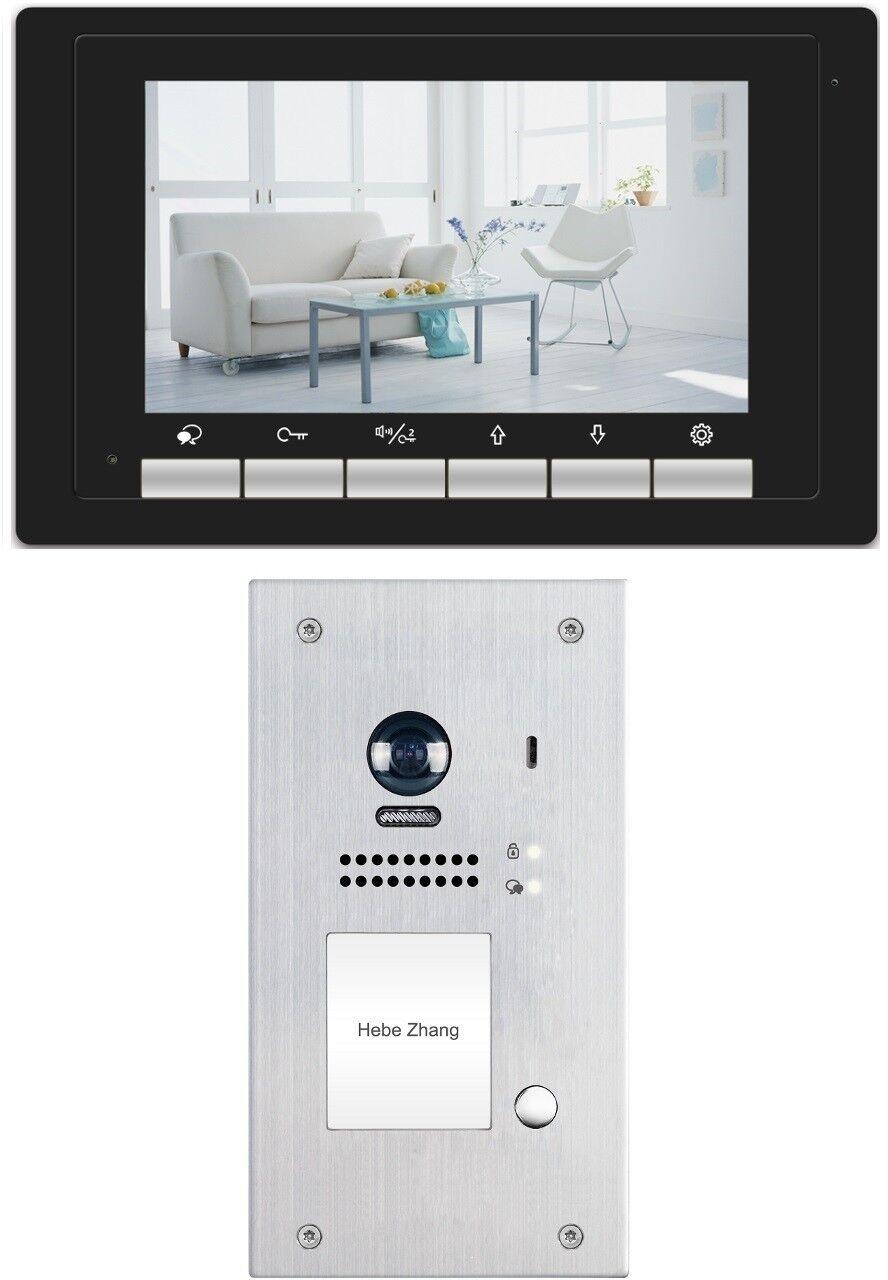 2 Draht Bus Technik Video Türsprechanlage Kligelanlage Edelstahl 2.0 Mega Pixel