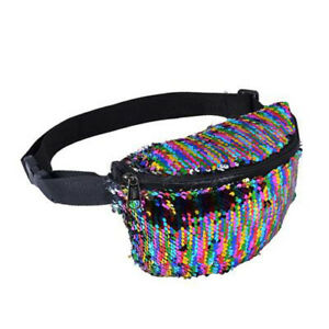 80-039-s-Style-Sequin-Bum-Bag-1980-039-s-Fancy-Dress-Rainbow