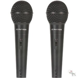 Peavey-PVi-100-Twin-Pack-Handheld-Dynamic-Cardioid-Vocal-Microphone