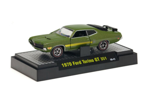 Green with Gold Metal Flake 1970 Ford Torino GT 351 Redline Rubber Tires