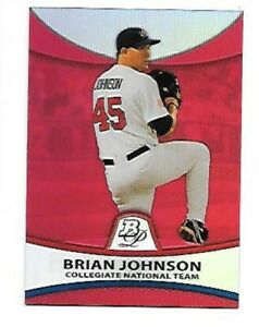 BRIAN-JOHNSON-2010-BOWMAN-PLATINUM-RED-ROOKIE-REFRACTOR-PP38-SERIAL-5-25