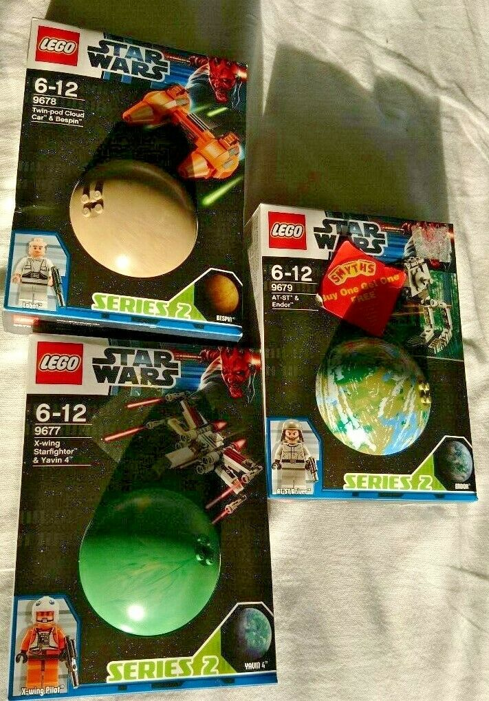 NEW. Lego Star Wars 9677, 9678, 9679. BRAND NEW& SEALED. FREE POSTAGE.