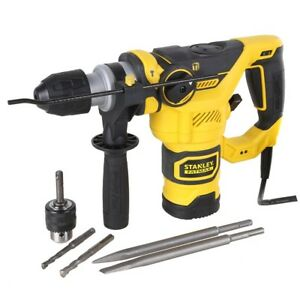 NEW-STANLEY-FatMax-1250W-SDS-3-Mode-Rotary-Hammer-Drill-amp-Carry-Case
