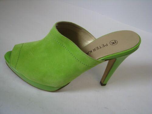 Peter Kaiser palia Sandale Vert Daim//Verni Avec 10 cm paragraphe Taille 4,5