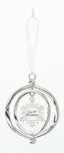 Ornament Ganz 3d Ornament with Hanging snowflake Our 1st Christmas ER18136
