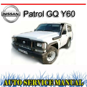 nissan patrol safari gq y60 1988 1998 service repair manual dvd ebay rh ebay com au nissan y60 service manual nissan y60 manual