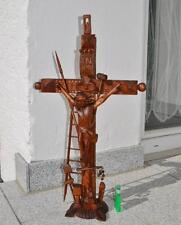 Black forest HANDCARVED  STAND CROSS CRUCIFIX 1900 22.8 in