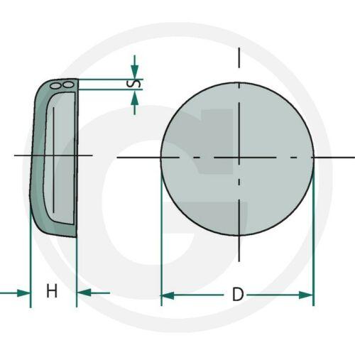 Froststopfen 60mm Spreizscheibe Kernlochdeckel Traktor Unimog Motor Motorkühlung