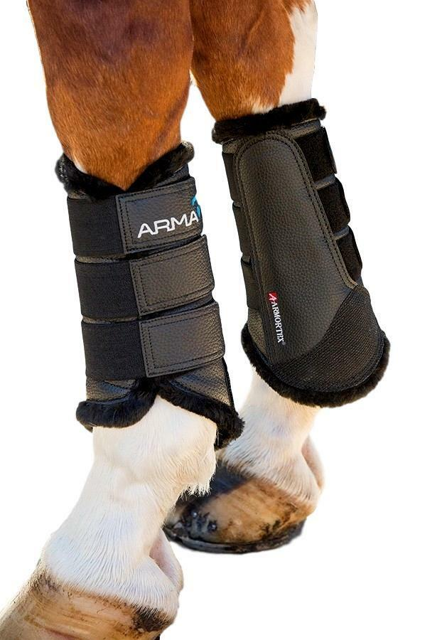 Shires Equestrian Arma Fur Lined Brushing Boots Breathable Cooling