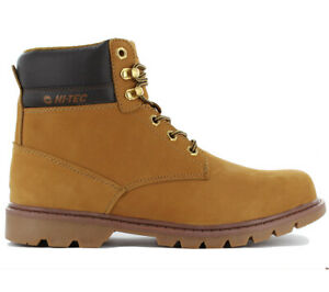 brand new ba400 0407b Details zu Hi-Tec Oruvi Mid 6 inch Herren Boots Stiefel Wanderschuhe Leder  Camel-Braun NEU