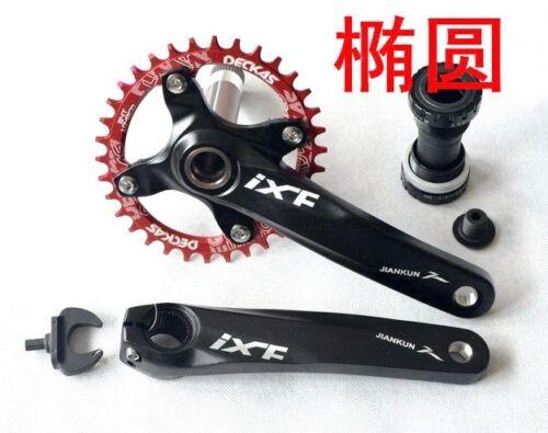 Crankset arm 170mm BB Narrow Wide single Oval Chainring 32 34 36 38T MTB XC Bike