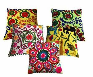 Suzani-Pillows-5-Cushion-Cover-Ethnic-Fashion-Designer-cover-Sofa-Poarch-Decor