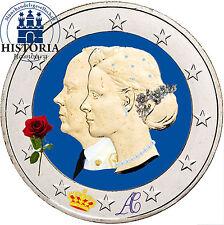 Monaco 2 euro moneta speciale 2011 BFR. matrimonio Albert & CHARLENE in colore