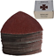 Triangular Oscillating Multi Tool Sanding Pads 3-1//8 Inch 80mm 55 Pcs