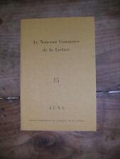 Le nouveau commerce de la lecture N°15 CHARLES NODIER FRANCIS BACON RACINE