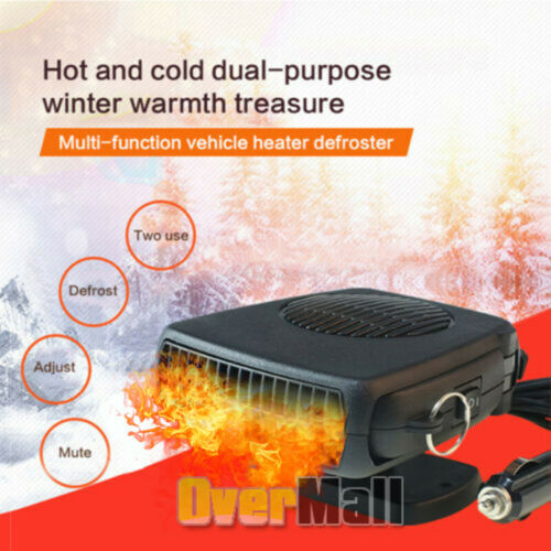 Plug In 360° 200W Portable Ceramic Car Heater 12V DC Vehicle Heating Cooling Fan