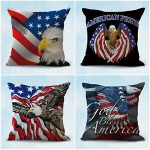 """17/"""" Decorative Patriotic Throw Pillow POW MIA Flag Throw Pillow WOVEN IN USA"""