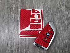 Red Carbon BMW Key Sticker Decal Overlay X6 F16 X5 F15 Gran Tourer F46 7 G12