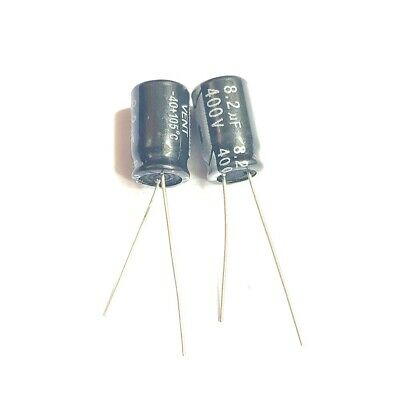 20PCS 400V 6.8uF 400Volt 6.8MFD 105C Aluminum Electrolytic Capacitor 8×12mm NEW