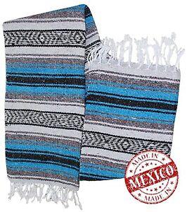 #11 Yoga Beach Car Home Mexico Blanket Throw Artisan Cotton Acrylic Fair Trade