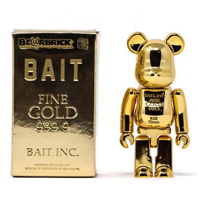 BAIT Gold Bar 1000/% 100/% Bearbrick Be@rbrick Medicom Toy Chrome Rare Limited GLD
