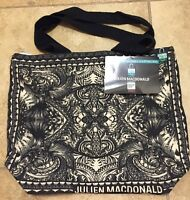 Tesco Julien Macdonald Bag Of Ethics Black Gray Cotton Wings Design Paint