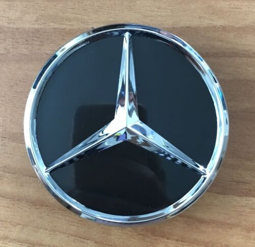 4 Mercedes-Benz emblemi COPRIMOZZO Coperchio Mozzo Cerchi Coperchio ORGINAL Nero Nuovo
