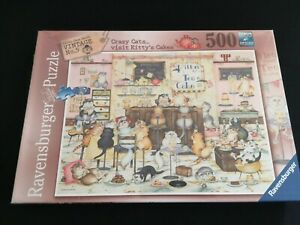 RAVENSBURGER CRAZY CATS VISIT KITTY'S CAKES JIGSAW - 500 PIECE-NEW AND SEALED