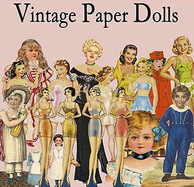 Vintage Paper Dolls History  2000 x  Decoupage prints on  DVD