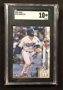 2020-Topps-Baseball-Gavin-Lux-DODGERS-RC-292-SGC-10-Gem-Mint-Pop-166-PSA-BGS