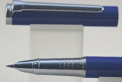 801 MKII Dark Blue Fine Fountain Pen with Chrome Trim Baoer No