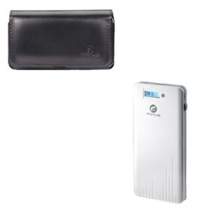 Leather-Case-Belt-Clip-Holster-w-6000mAh-Power-Bank-Charger-X9Q-for-Cell-Phones