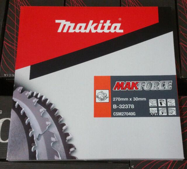 Makita MAKFORCE Kreissägeblatt Sägeblatt 270 mm x 30 mm x 40Zähne