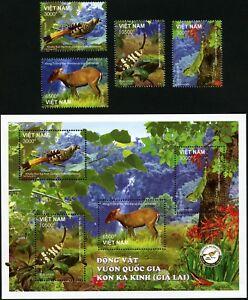 Vietnam-2018-Tiere-Nationalpark-Vogel-Gecko-Insekt-Postfrisch-MNH