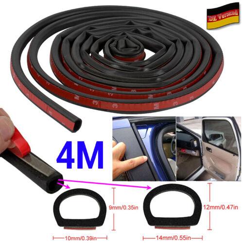 DE 4m D-Typ Selbstklebend Gummidichtung Dichtung Dichtband Für Auto Fenster Tür