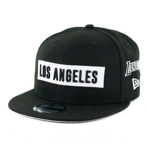 New-Era-9Fifty-Los-Angeles-Lakers-034-Multi-034-Snapback-Hat-Black-MLB-Cap