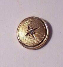 vintage marked 14k yellow gold diamond tie tack 1.3gm mens jewelry