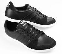 New Mens adidas Originals Adilago Low Trainers Black Size UK  6 - 9.5