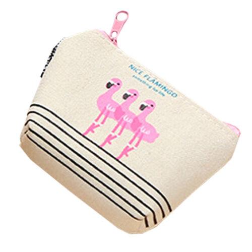 Womens Girls Coin Purse Small Change Wallet Money Canvas Bag Mini Clutch Handbag