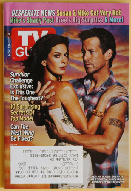 TV Guide Nov 28-Dec 4 2004 Desperate Housewives Survivor Top Model Holiday Prev.