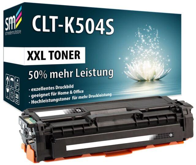 TONER CLT-K504S XXL 50% MEHR INHALT FÜR SAMSUNG CLX-4190 CLX-4195FN SCHWARZ
