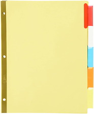 Averyr Worksaverr Insertable Big Tab Recycled Dividers 5 T