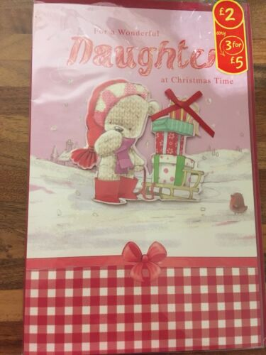 Cards. Daughter Christmas Card ☃️ Xmas Greeting Card Family