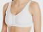 Front Opening Sport Bra Cotton Spandex White Sz 32 34 36 38 40 42 46 48 50 52 54