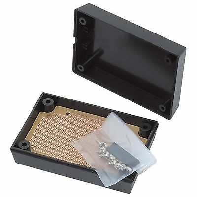 59 X 87 X 31mm project box - black plastic case for PIC